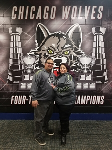 Basilio attended Chicago Wolves vs. Iowa Wild - AHL on Nov 26th 2017 via VetTix