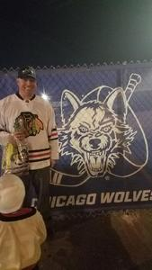 Kyle attended Chicago Wolves vs. Rockford Icehogs - AHL on Mar 17th 2018 via VetTix