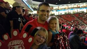 RJ attended University of New Mexico Lobos vs. Northern New Mexico - NCAA Mens Basketball on Nov 11th 2017 via VetTix