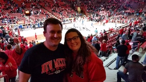 Andrew attended University of New Mexico Lobos vs. San Jose State - NCAA Mens Basketball on Jan 6th 2018 via VetTix