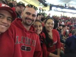 Carlos attended University of New Mexico Lobos vs. UNLV - NCAA Mens Basketball on Feb 25th 2018 via VetTix