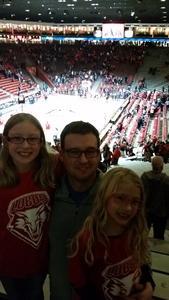 Andrew attended University of New Mexico Lobos vs. UNLV - NCAA Mens Basketball on Feb 25th 2018 via VetTix