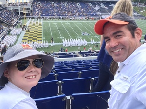 Blake attended Navy Midshipmen vs. Tulane - NCAA Football on Sep 9th 2017 via VetTix