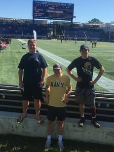JD attended Navy Midshipmen vs. Cincinnati - NCAA Football on Sep 23rd 2017 via VetTix