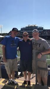 brian attended Navy Midshipmen vs. Cincinnati - NCAA Football on Sep 23rd 2017 via VetTix