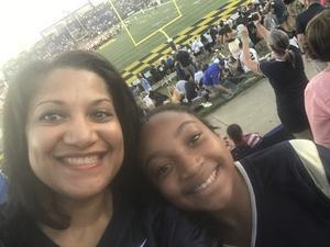 Carla attended Navy Midshipmen vs. Cincinnati - NCAA Football on Sep 23rd 2017 via VetTix