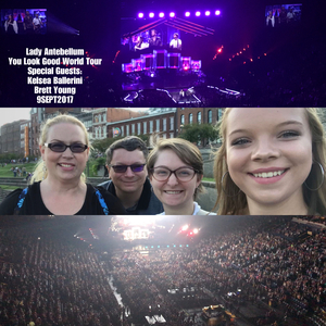 EdwardAmber attended Lady Antebellum You Look Good World Tour With Special Guest Kelsea Ballerini, and Brett Young on Sep 9th 2017 via VetTix