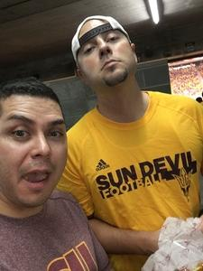 William attended Arizona State Sun Devils vs. San Diego State - NCAA Football on Sep 9th 2017 via VetTix