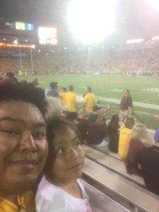 Brandon attended Arizona State Sun Devils vs. San Diego State - NCAA Football on Sep 9th 2017 via VetTix