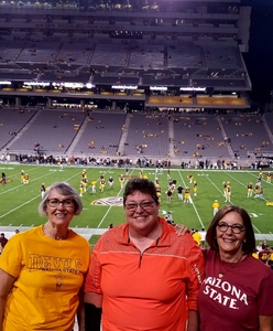 Kimberly attended Arizona State Sun Devils vs. San Diego State - NCAA Football on Sep 9th 2017 via VetTix