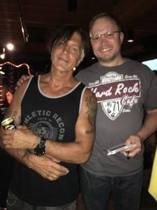 Richard attended Lynch Mob - Live in Concert on Oct 7th 2017 via VetTix