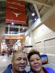 Anthony attended University of Texas Longhorns vs. Texas Tech- NCAA Football on Nov 24th 2017 via VetTix