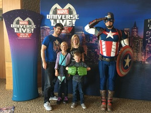 Luke attended Marvel Universe Live! Age of Heroes - Show Tickets + Captain America Meet & Greet on Sep 28th 2017 via VetTix