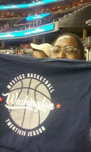 Tonya attended Washington Mystics vs. Minnesota Lynx - WNBA - Playoff Game! on Sep 17th 2017 via VetTix