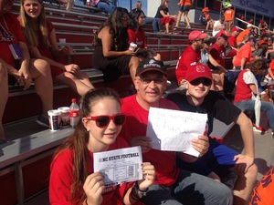 Frank C attended NC State Wolfpack vs. Syracuse - NCAA Football - Military Appreciation Game on Sep 30th 2017 via VetTix