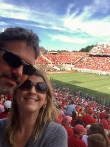 Thomas attended NC State Wolfpack vs. Syracuse - NCAA Football - Military Appreciation Game on Sep 30th 2017 via VetTix