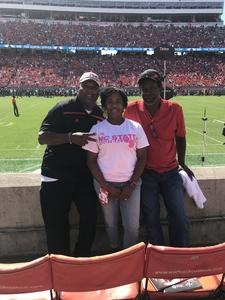 Bryant attended NC State Wolfpack vs. Syracuse - NCAA Football - Military Appreciation Game on Sep 30th 2017 via VetTix