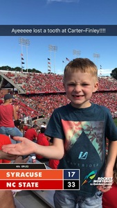 Garrett attended NC State Wolfpack vs. Syracuse - NCAA Football - Military Appreciation Game on Sep 30th 2017 via VetTix