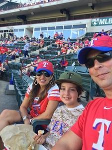 nicholas attended Texas Rangers vs. Oakland Athletics - MLB on Sep 29th 2017 via VetTix