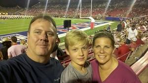 Daniel attended Southern Methodist University Mustangs vs. Arkansas State - NCAA Football on Sep 23rd 2017 via VetTix