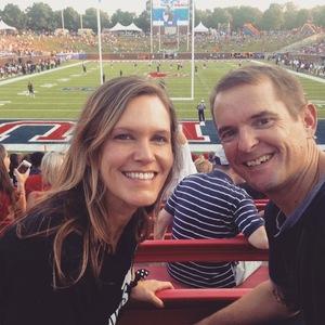 David attended Southern Methodist University Mustangs vs. Arkansas State - NCAA Football on Sep 23rd 2017 via VetTix