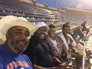 ANTRON attended Southern Methodist University Mustangs vs. Arkansas State - NCAA Football on Sep 23rd 2017 via VetTix