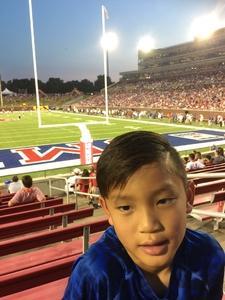 John attended Southern Methodist University Mustangs vs. Arkansas State - NCAA Football on Sep 23rd 2017 via VetTix