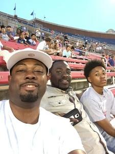 Roderick attended Southern Methodist University Mustangs vs. Arkansas State - NCAA Football on Sep 23rd 2017 via VetTix
