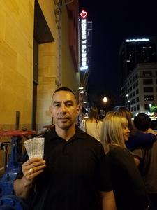 Alejandro attended Totally 80s Tour - Standing Room Only on Oct 7th 2017 via VetTix