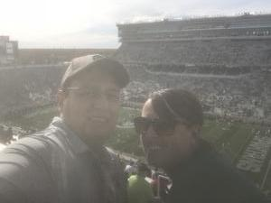Wayne attended Michigan State Spartans vs. Indiana - NCAA Football on Oct 21st 2017 via VetTix
