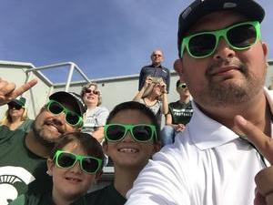 Darrick attended Michigan State Spartans vs. Indiana - NCAA Football on Oct 21st 2017 via VetTix