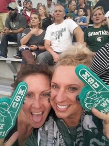 Bridget attended Michigan State Spartans vs. Indiana - NCAA Football on Oct 21st 2017 via VetTix