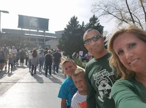The Lightfoots attended Michigan State Spartans vs. Indiana - NCAA Football on Oct 21st 2017 via VetTix