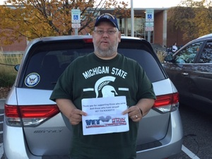 Michael attended Michigan State Spartans vs. Indiana - NCAA Football on Oct 21st 2017 via VetTix