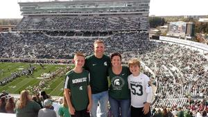 Josiah attended Michigan State Spartans vs. Indiana - NCAA Football on Oct 21st 2017 via VetTix
