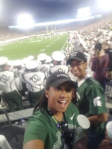 Lucetia attended Michigan State Spartans vs. Indiana - NCAA Football on Oct 21st 2017 via VetTix
