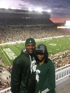 Sean attended Michigan State Spartans vs. Indiana - NCAA Football on Oct 21st 2017 via VetTix