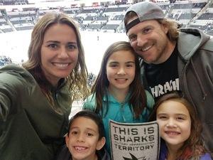 Jessica attended San Jose Sharks vs. New York Rangers - NHL - Alternate Jersey Auction - Military Appreciation on Jan 25th 2018 via VetTix