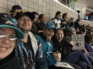 Jennifer attended San Jose Sharks vs. New York Rangers - NHL - Alternate Jersey Auction - Military Appreciation on Jan 25th 2018 via VetTix