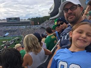 jeremy attended University of North Carolina Tar Heels vs. Notre Dame - NCAA Football on Oct 7th 2017 via VetTix