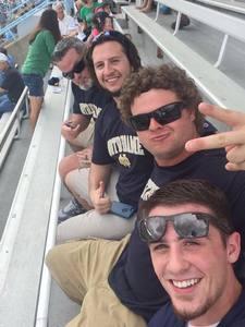 Sean attended University of North Carolina Tar Heels vs. Notre Dame - NCAA Football on Oct 7th 2017 via VetTix