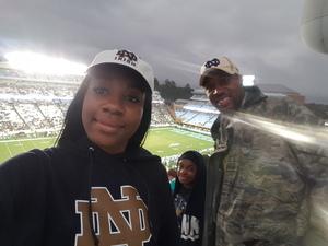 Shawn attended University of North Carolina Tar Heels vs. Notre Dame - NCAA Football on Oct 7th 2017 via VetTix