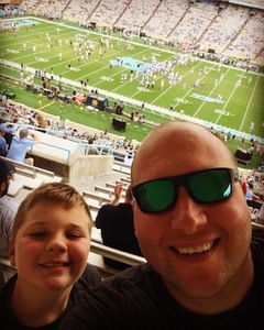 Michael attended University of North Carolina Tar Heels vs. Notre Dame - NCAA Football on Oct 7th 2017 via VetTix