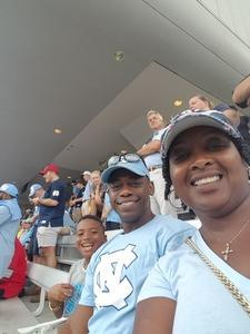 Tarika attended University of North Carolina Tar Heels vs. Notre Dame - NCAA Football on Oct 7th 2017 via VetTix
