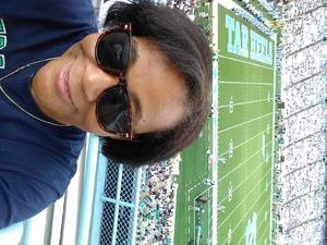 Betty attended University of North Carolina Tar Heels vs. Notre Dame - NCAA Football on Oct 7th 2017 via VetTix