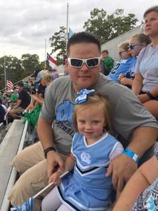 James attended University of North Carolina Tar Heels vs. Notre Dame - NCAA Football on Oct 7th 2017 via VetTix