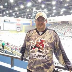 Joseph attended Tucson Roadrunners vs. San Jose Barracuda - AHL on Mar 20th 2018 via VetTix