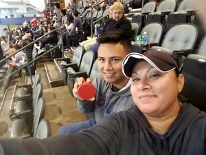 Monica attended Tucson Roadrunners vs. San Jose Barracuda - AHL on Mar 20th 2018 via VetTix