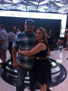 Domingo attended Soul2Soul Tour With Tim McGraw and Faith Hill on Oct 5th 2017 via VetTix