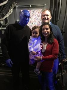 Timothy attended Blue Man Group - Chicago on Oct 15th 2017 via VetTix